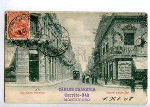 173322 URUGUYAY Montovideo Calle Rincon Vintage RPPC to Russia