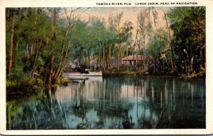 Florida Tomoka River Lunch Cabin Head Of Navigation 1922 Curteich