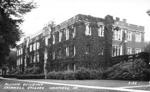 Grinnell College Iowa~Alumni Building~Ivy Covered~1940s Real Photo Postcard~RPPC