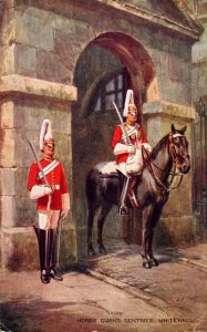 England London Whitehall Horse Guards Sentries 1952