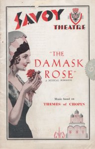 The Damask Rose 1920s Chopin Savoy London Theatre Programme
