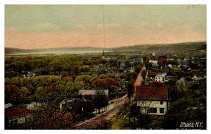 New York  , Aerial view of Ithaca from Cayuga St. Extension