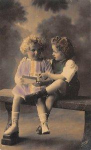 US3304 Children on Chair Kids Postcard Marine Schiffpost 149 2410 cancel navy