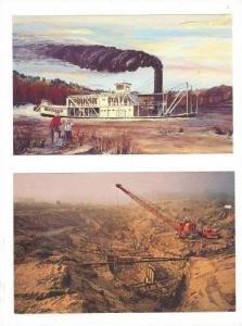 2PCs,Excavation Of Steamboat Bertrand,Painting,IA,40-60