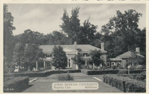 BALTIMORE, MD , 1930s ; Johns Hopkins University ; Hopkins Club