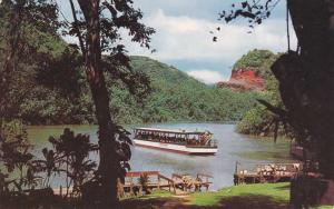 Tourist Boat on Wailua River - Kauai HI, Hawaii