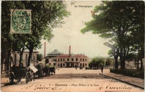 CPA AK ÉPERNAY Place Thiers et la Gare (491775)