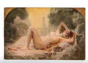 161320 Golden Rain NUDE Belle Woman by COMERRE vintage colorPC
