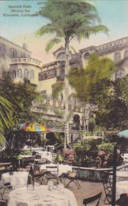 Spanish Patio Mission Inn Riverside California Handcolored Albertype