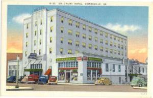 Dixie-Hunt Hotel Dixie Drug Store, Gainesville, Georgia, GA, Linen