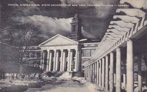 New York Oswego Typical Winter Scene State University Of New York Teachers Co...