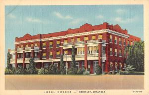 Hotel Rusher in  Brinkley Arkansas L4580 antique postcard