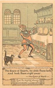 Frederick Warne 1974 Randolph Caldecott drawing the Knave of Hearts stole tarts