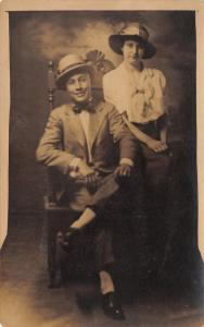 Nashville TN~Violet Studio Pic: JH Brown & Lady~Hats~Fremont Street~1920s RPPC