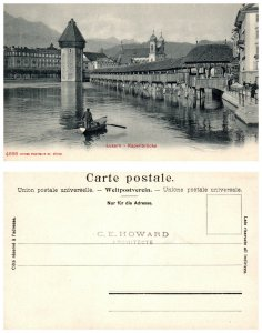 SWITZERLAND Postcard - Luzern, Kapellbrucke (PC10)