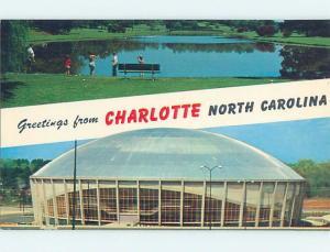 Unused Pre-1980 TWO VIEWS ON CARD Charlotte North Carolina NC ho7349-12