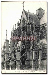 Old Postcard Troyes St Urbain The Apse