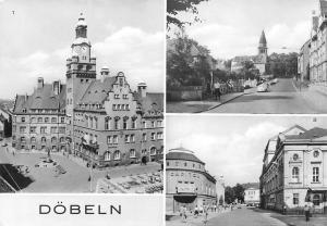 Doebeln, Rathaus am Roten Platz, Rosa Luxemburg Strasse der Befreiung