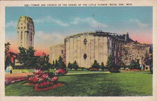 Tower And Church Of The Shrine Of The Little Flower Royal Oak Michigan 1943