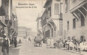 ALEXANDRIE , Egypt , 1900-1910´s ; Gouvernorat Rue Ras El Tin