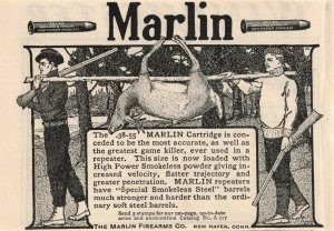 1903 Marlin Firearms Co. Winchester Repeating Arms Co. Original Print Ad 2T1-47
