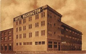 Aberdeen Washington Hotel Washington Antique Postcard J53167