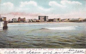 New Jersey Atlantic City Panorama Of Boardwalk From End Of Steel Pier 1907