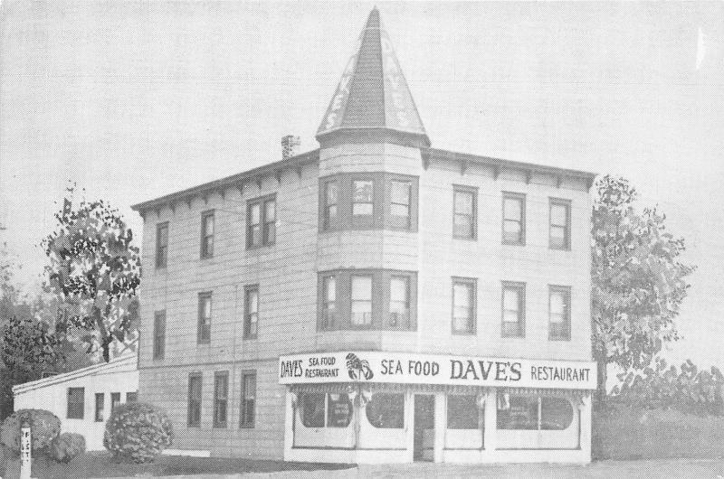 Belmar New Jersey~Daveu0027s Sea Food Restaurant Exterior~700 F Street~1950s Bu0026W