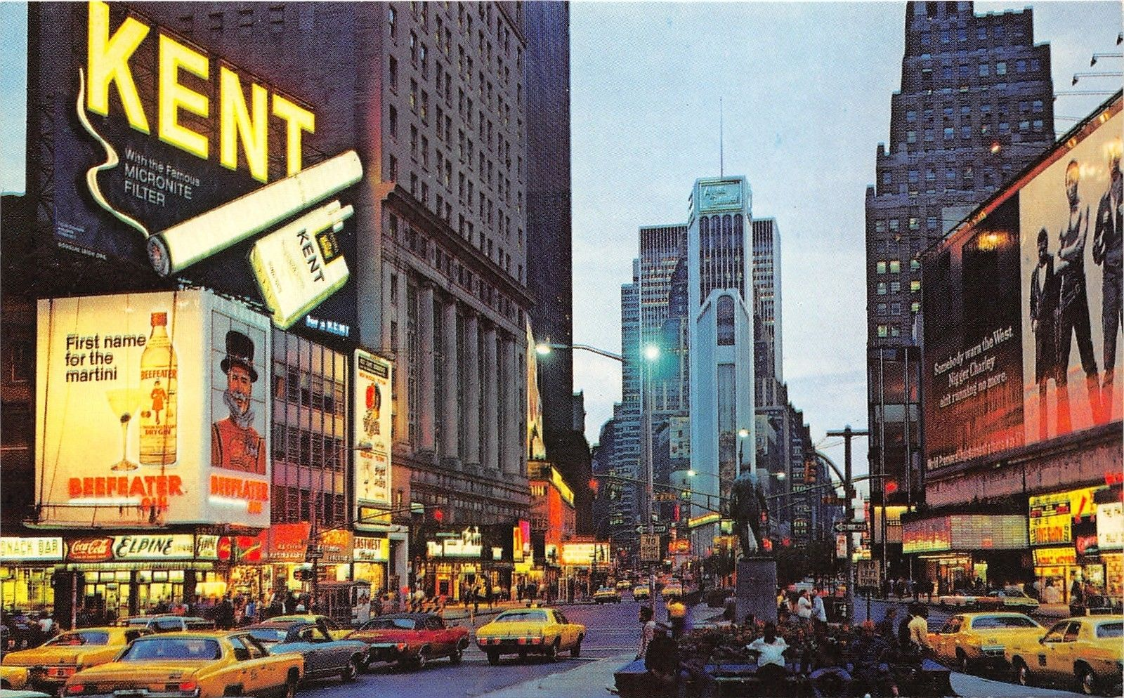 New York City~Times Square @ Night~Beefeater Martini~Kent