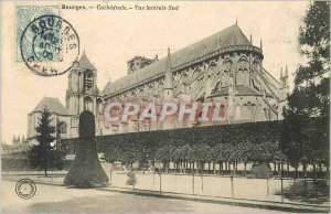 Old Postcard Bourges Cathedral View Lateral South