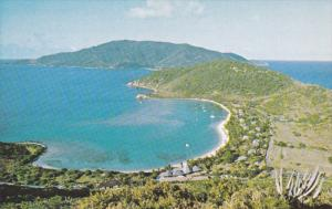 Little Dix Bay , Virgin Gorda , B.V.I. , 50-60s : Viewe from crow hill