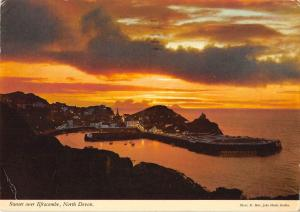 B103072 sunset over ilfracombe north devon    uk