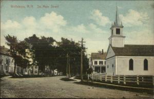 Wolfeboro NH South Main St. 1909 Used Postcard