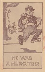 Hobo Comic by F.R.MORGAN , 00-10s ; He was a Hero , too!