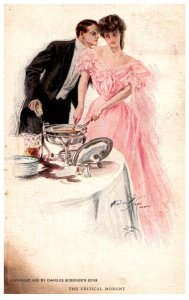 Victorian  Couple at marriage Reception, The Critical Moment