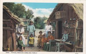 Typical Mexican Home And Family, MEXICO, 1910-1920s
