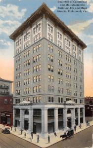 A54/ Richmond Virginia Va Postcard 1916 Chamber Of Commerce Manufacturers