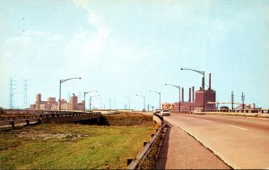 Indiana Toll RoadApproahing The Columet Skyway
