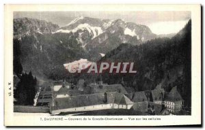 Old Postcard Dauphine Convent of the Grande Chartreuse Vue Sur cells