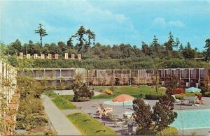 Seattle Washington~Hilton Inn~Airport~South 176th Street~Pool~Bush Sign~1960s PC