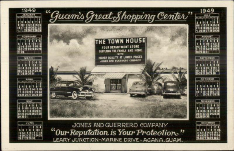 Agana Guam Town House Department Store Jones & Guerrero Co Real Photo Postcard