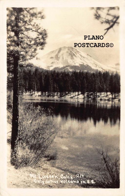 MT. LASSEN, CALIFORNIA, ONLY ACTIVE VOLCANO IN THE U.S.RPPC REAL PHOTO POSTCARD