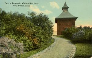 CT - New Britain. Walnut Hill Park, Path to Reservoir