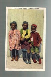 1947 Forrest City AR Postcard Cover Black Americana Two Jacks and a Jill Childre