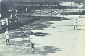 Detroit MI - Camp Cavell tennis courts at the Detroit YMCA on Lake Huron, 1950s