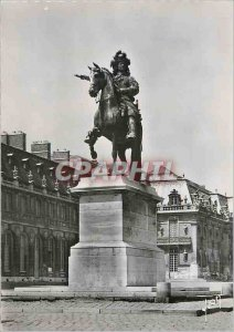 Modern Postcard Versailles (S and O) equestrian statue of Louis XIV (Petitot ...