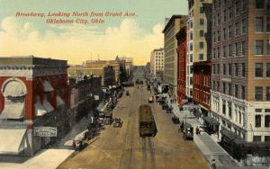 Oklahoma City~Rothenberg 10¢ Cigar Sign~Trolley on Broadway North @ Grand~c1910