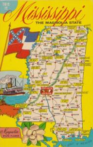 Map Of Mississippi The Magnolia State