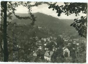 Germany, Schwarzburg Thur, unused real photo Postcard