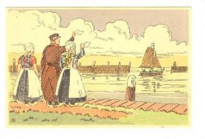 Art Postcard, Local life, Isle of Marken, Holland (Netherlands), 00-10s